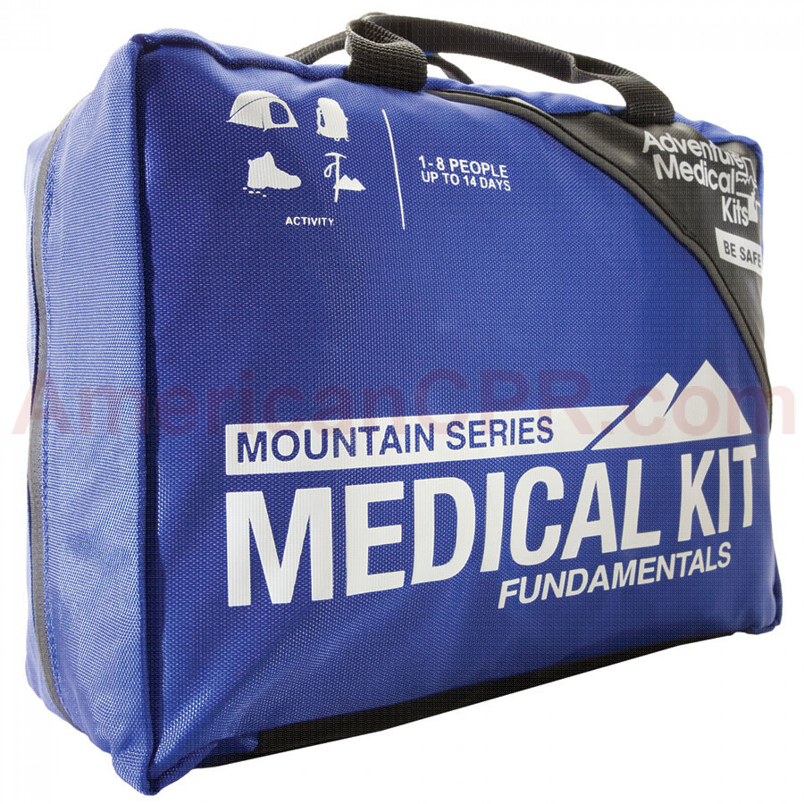 The Mountain Series Fundamentals Emergency Pack features extensive components selection includes supplies to treat a wide range of injuries, irrigate wounds, stabilize sprains and fractures, and manage illnesses