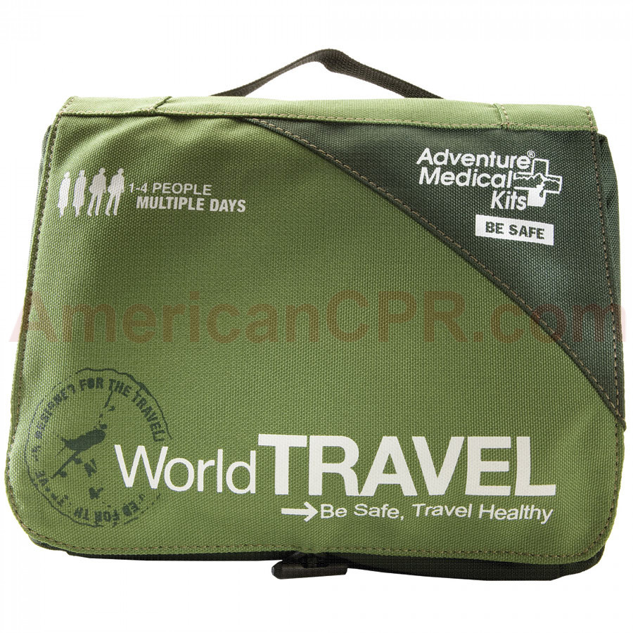 Wherever you wander, this handle international travel first aid kit provides the items you need for injury and illness care