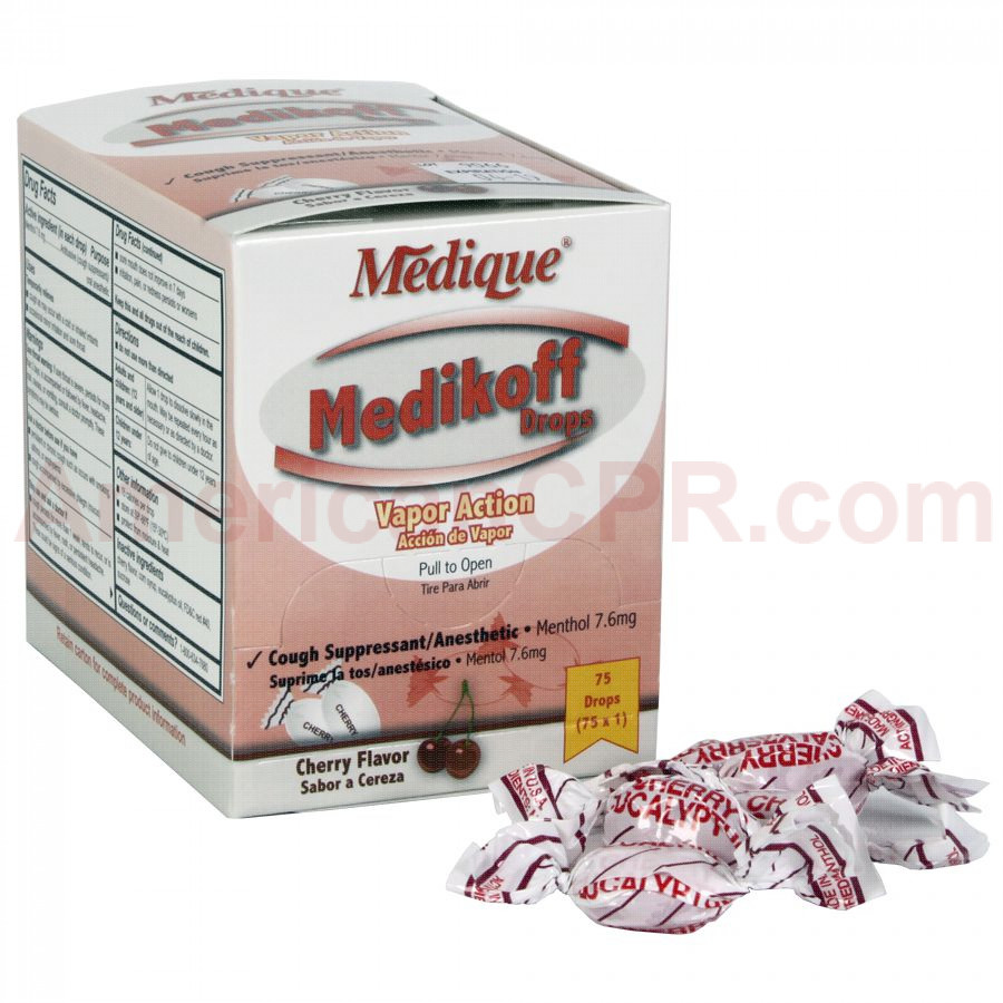Medikoff Drops, 75/box, Medique