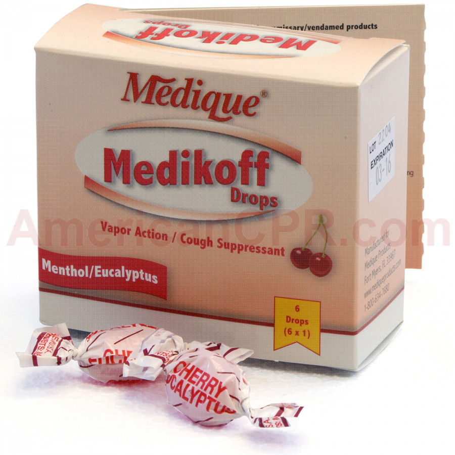 Medikoff Drops, 6/box, Medique