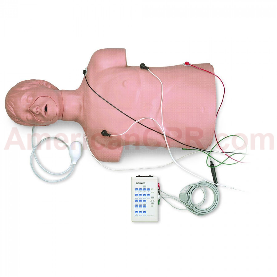 Defibrillation / CPR Training Manikin w/ Carry Bag - Simulaids