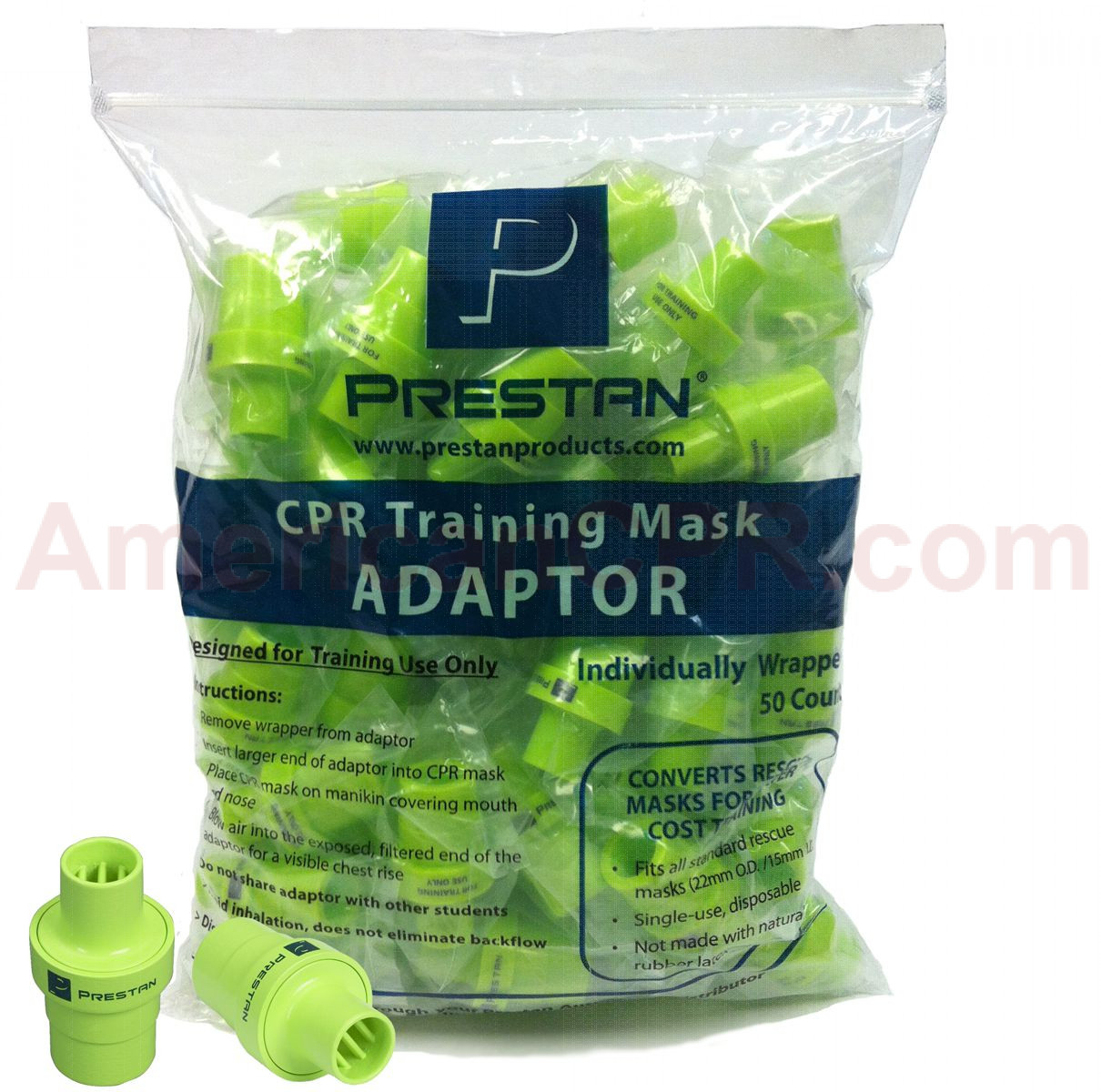 Prestan Rescue Mask Training Adapter, 50 Per Pack, Prestan Products