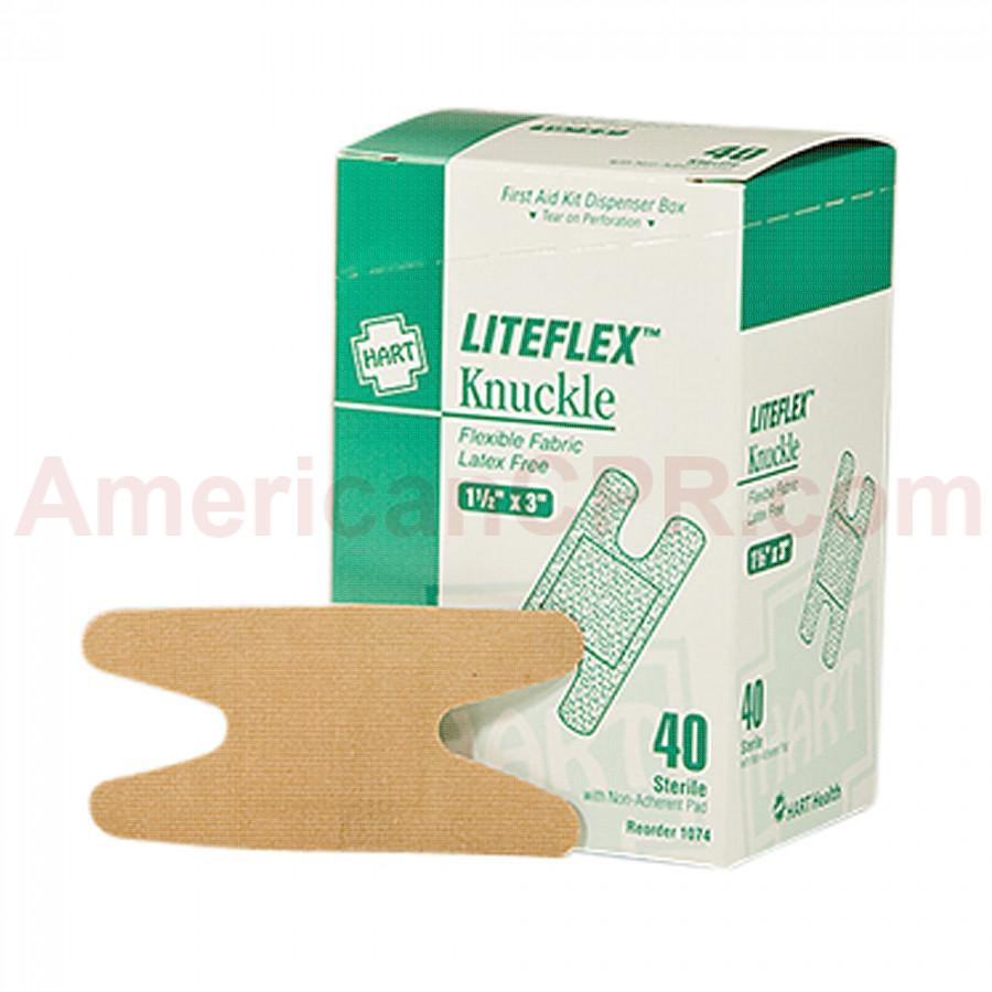 Knuckle Woven Adhesive Bandages, 40/BX, Hart Health
