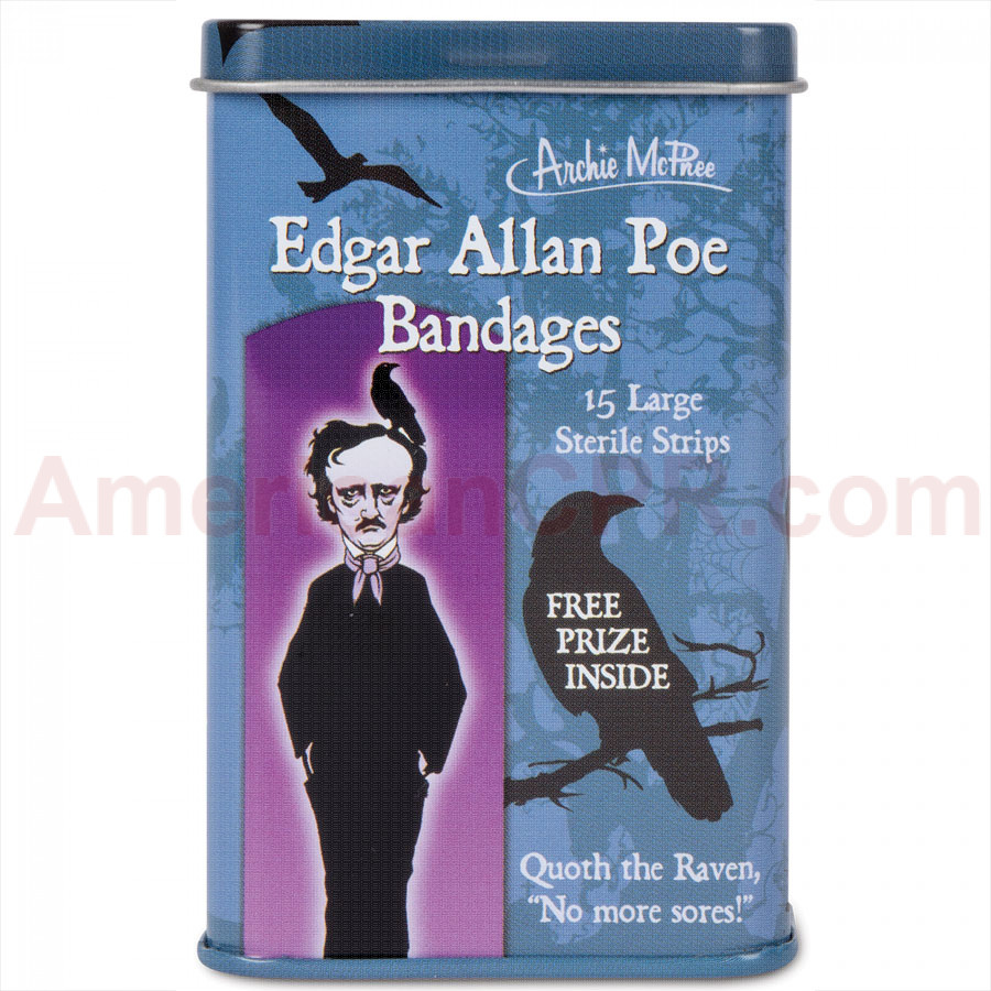 Edgar Allan Poe Bandages - 15 Per Tin - Accoutrements