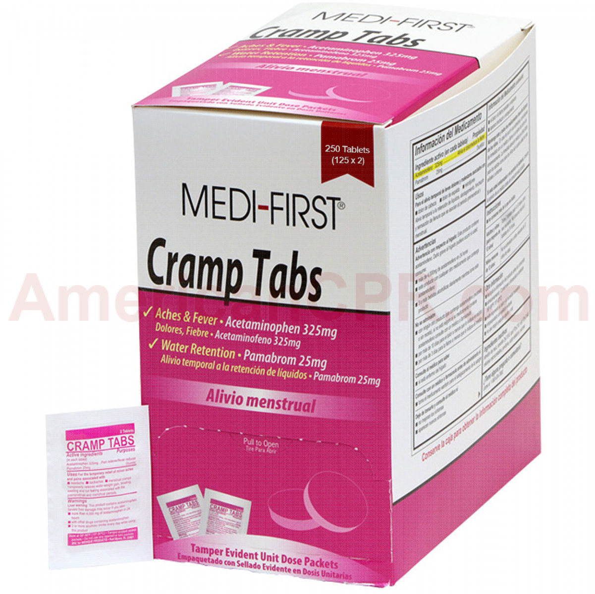 Fem Relief Tablets - 250 Per Box - Medi-First