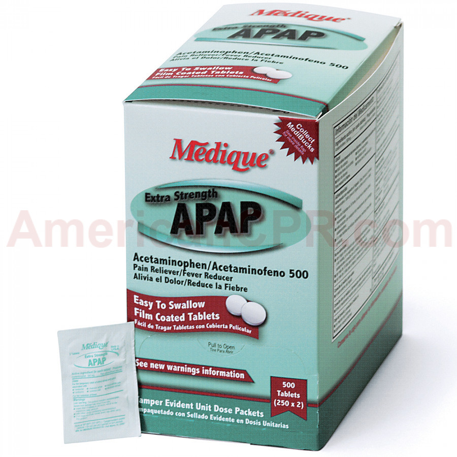Extra Strength APAP, 500/box, Medique