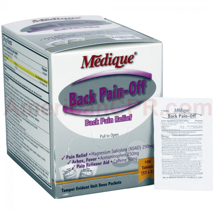 Back Pain-Off - 100 Per Box - Medique