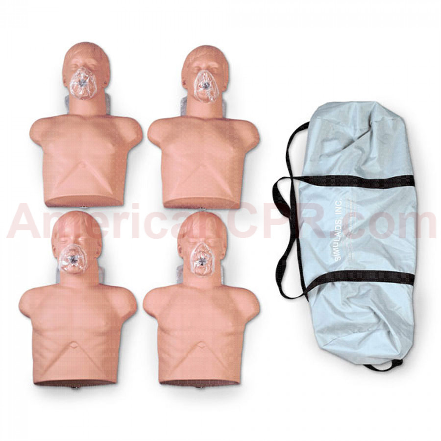 Economy Adult Sani-Manikin w/ Carry Bag - 4 Pack - Simulaids