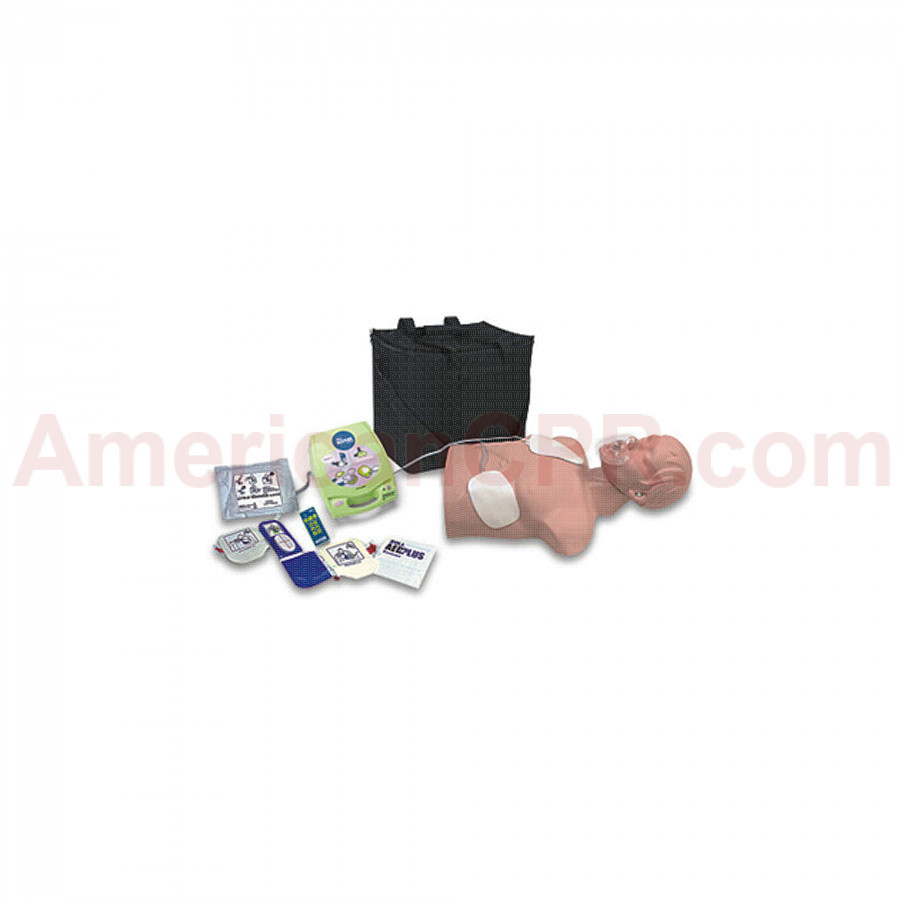 AED Trainer Package w/ Economy Adult Sani-Manikin - Simulaids