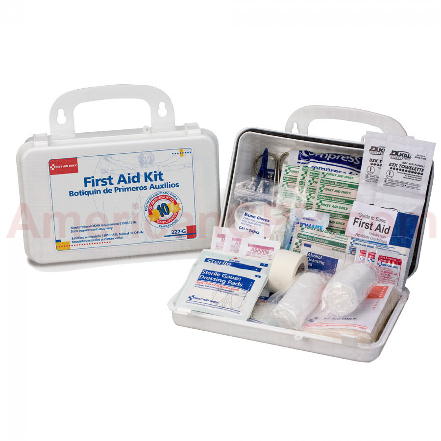 10 Person Bulk First Aid Kit w/ Dividers - First Aid Only