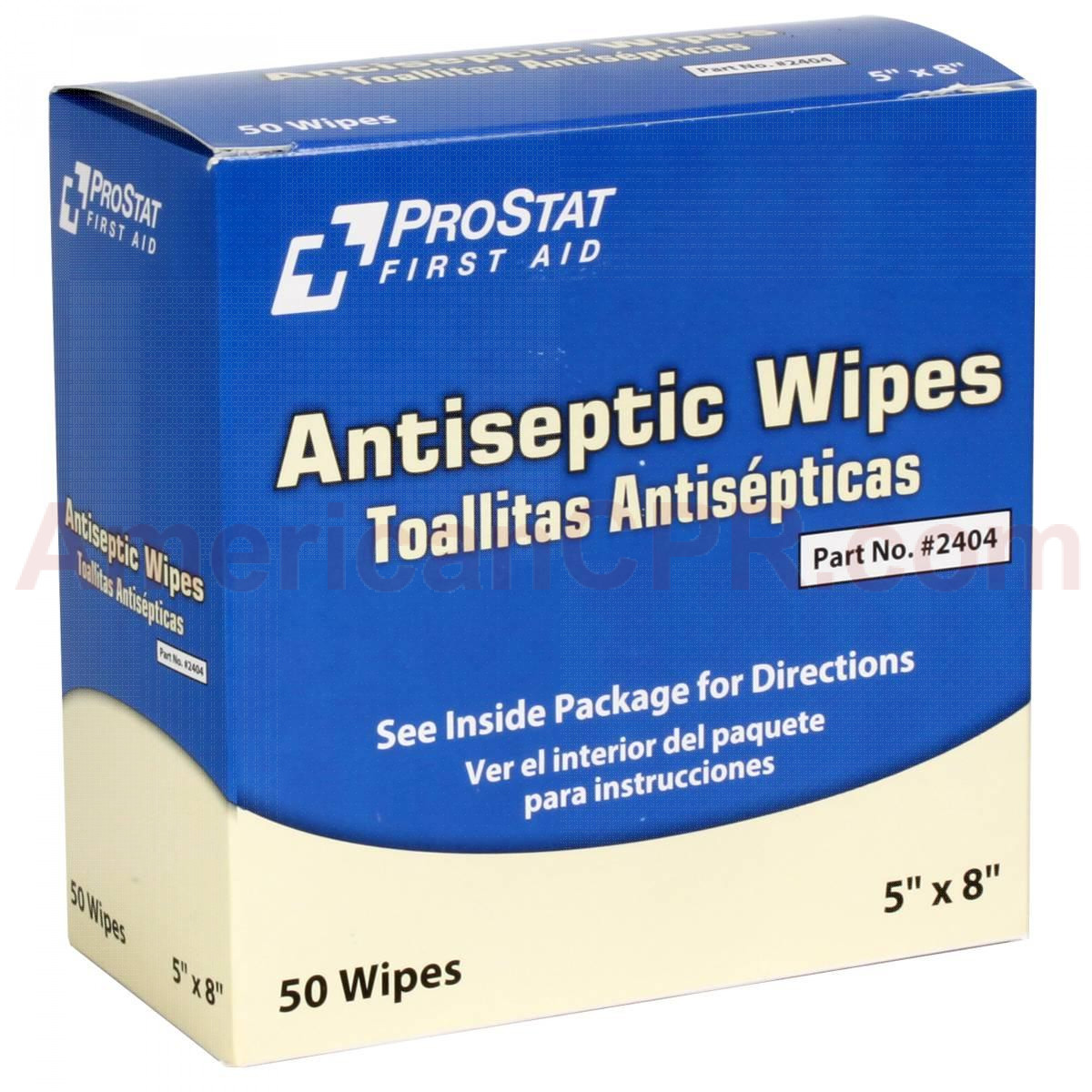 Antiseptic Wipes, 50 Per Box, Prostat First Aid