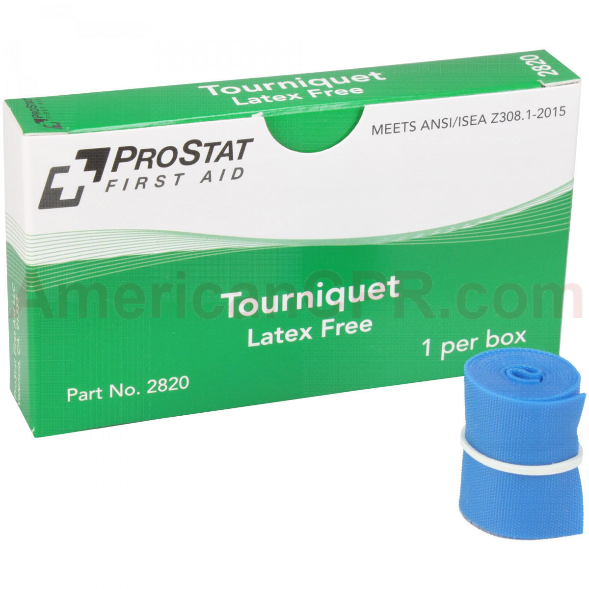 "Tourniquet (Latex free) 1"" x 18"", 1 per box, Prostat First Aid"