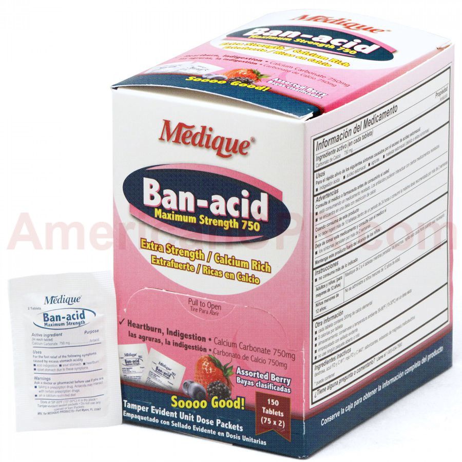 Ban-Acid, 150/box, Medique