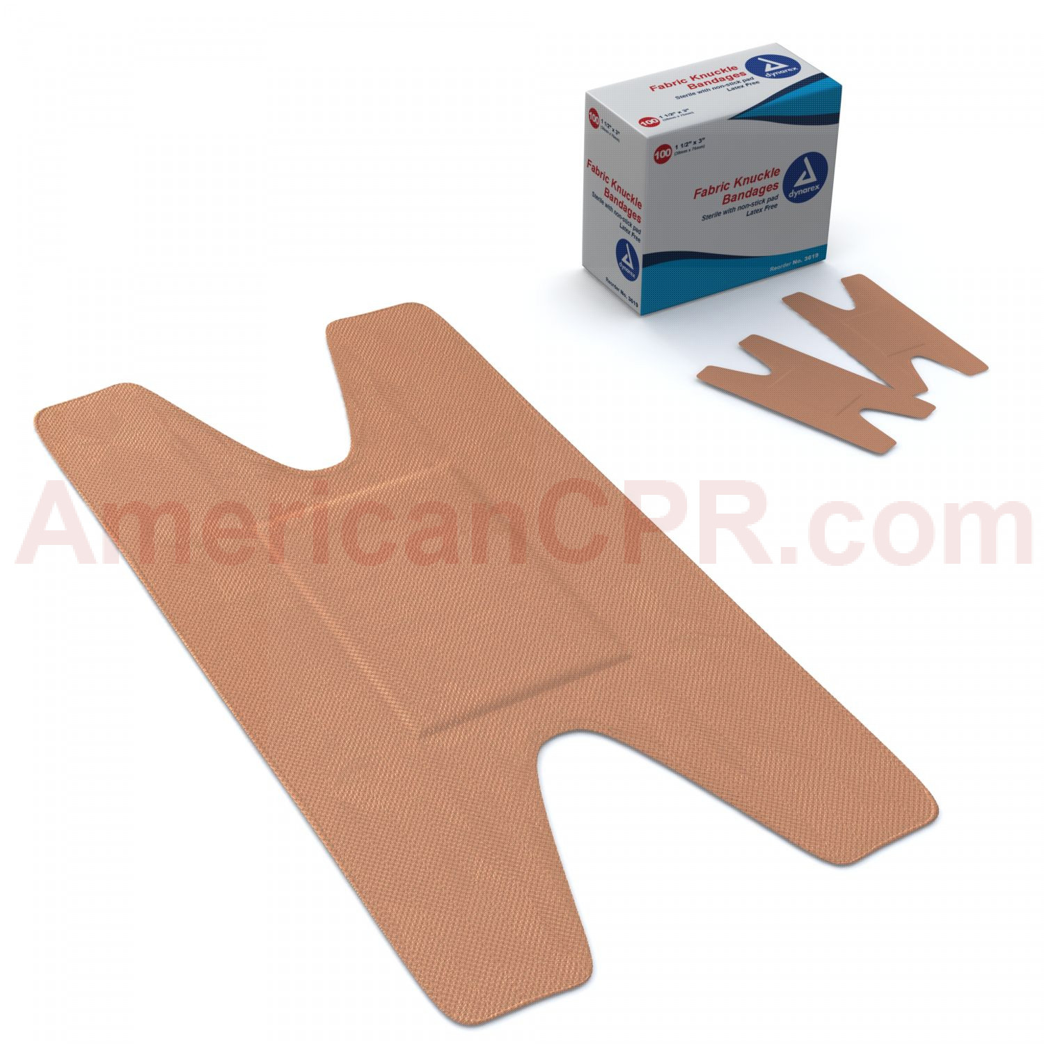 Knuckle Bandage, Fabric - 100 Per Box - Prostat First Aid