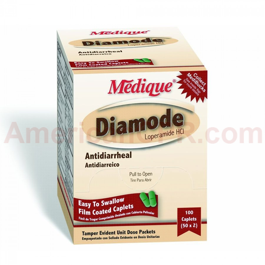 AntiDiarrheal Tablets - 100 Per Box - Medique