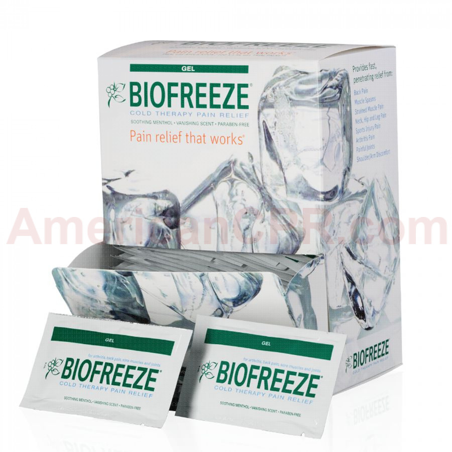 Biofreeze Pain Relieving Gel, 5gm., 100/box, Biofreeze