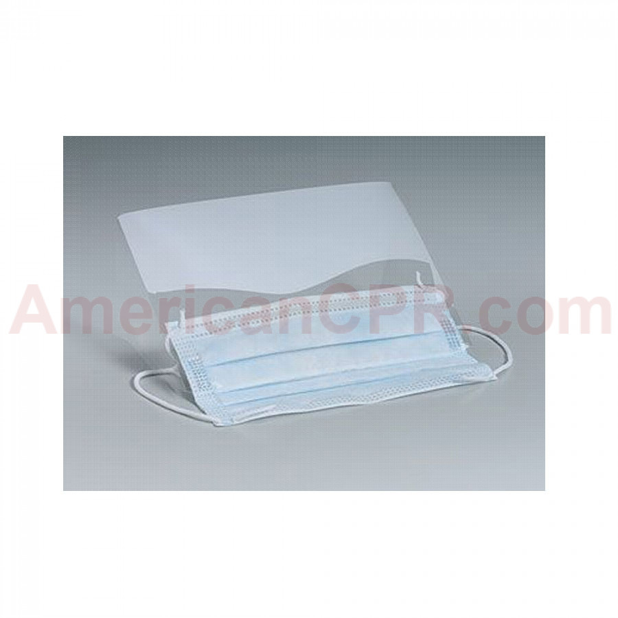 Plastic Eye Shield w/ Ear Loop Mask - Clear - Value Brand