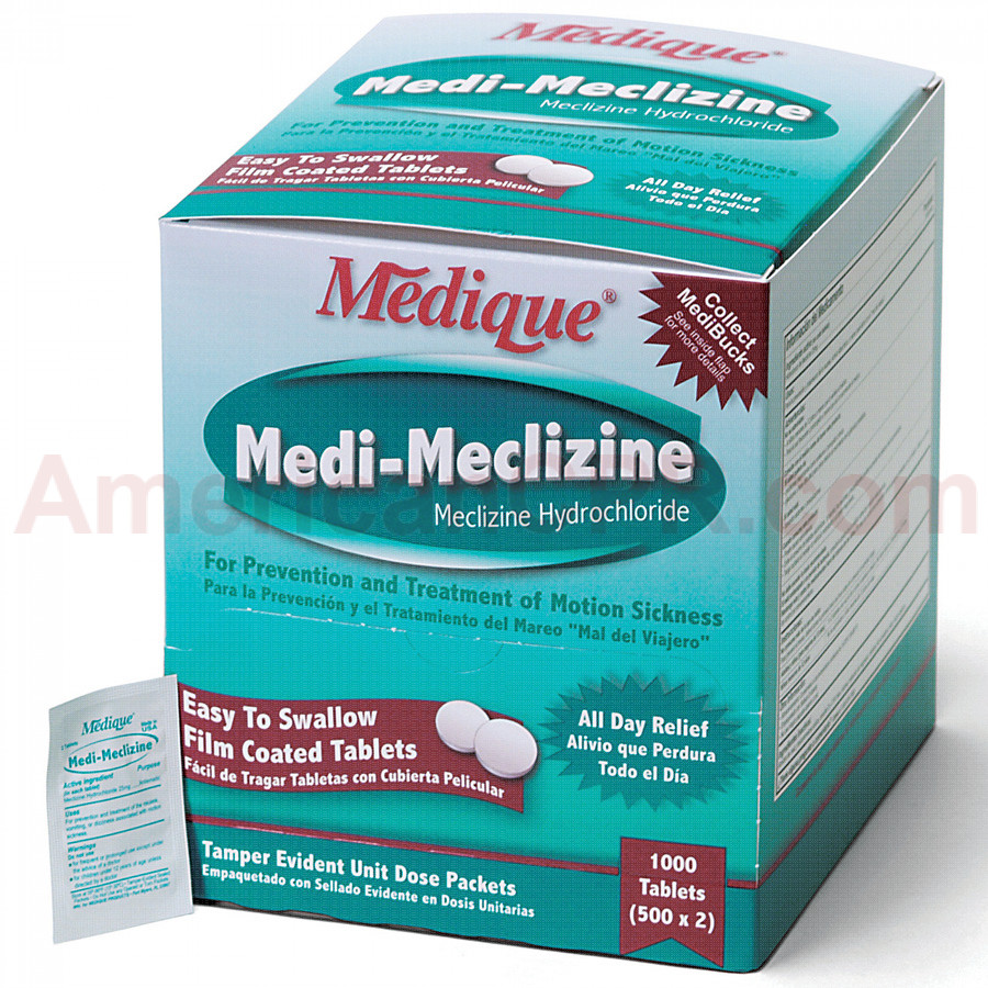 Medi-Meclizine, 1000/box, Medique