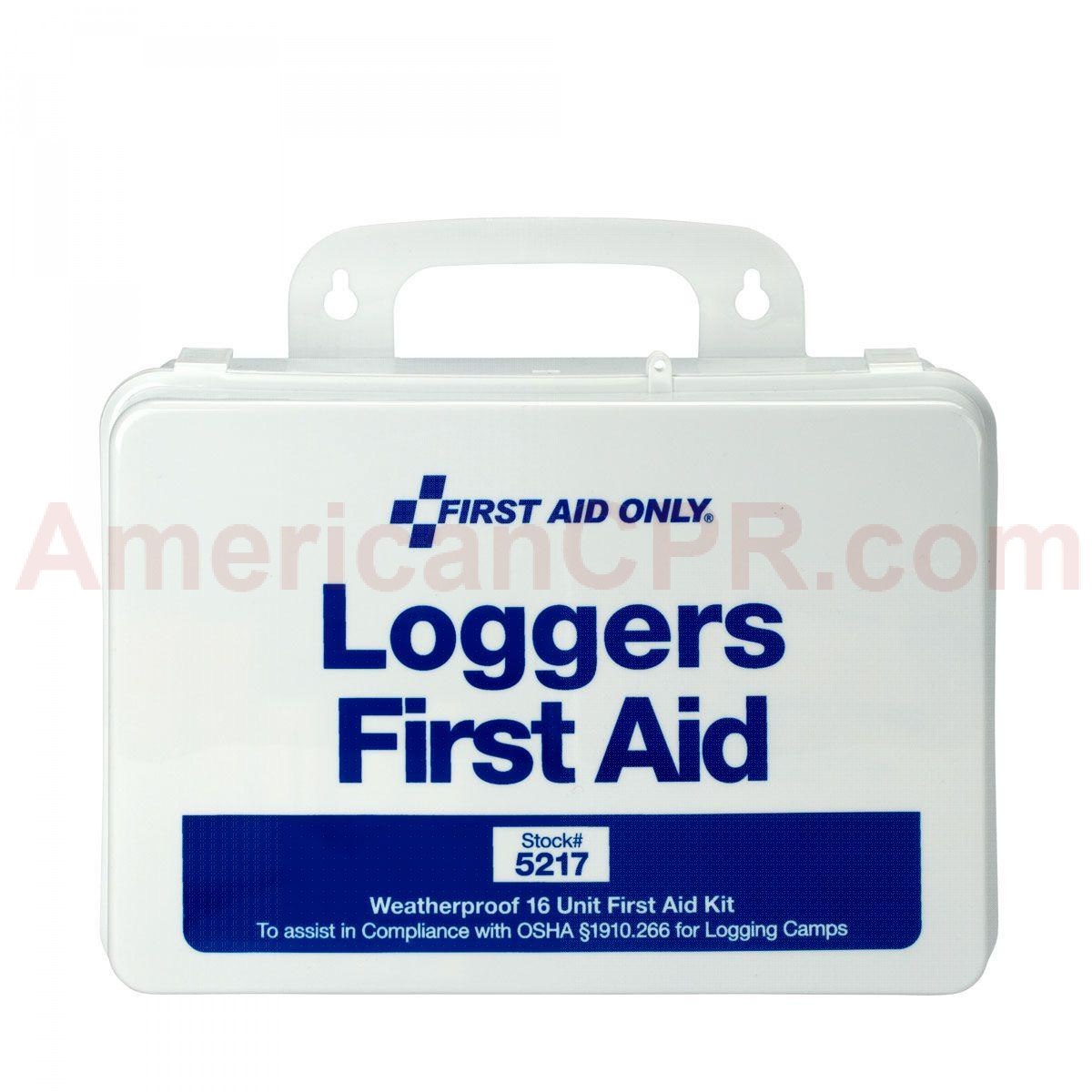 25 Person Logger First Aid Kit - Plastic - First Aid Only
