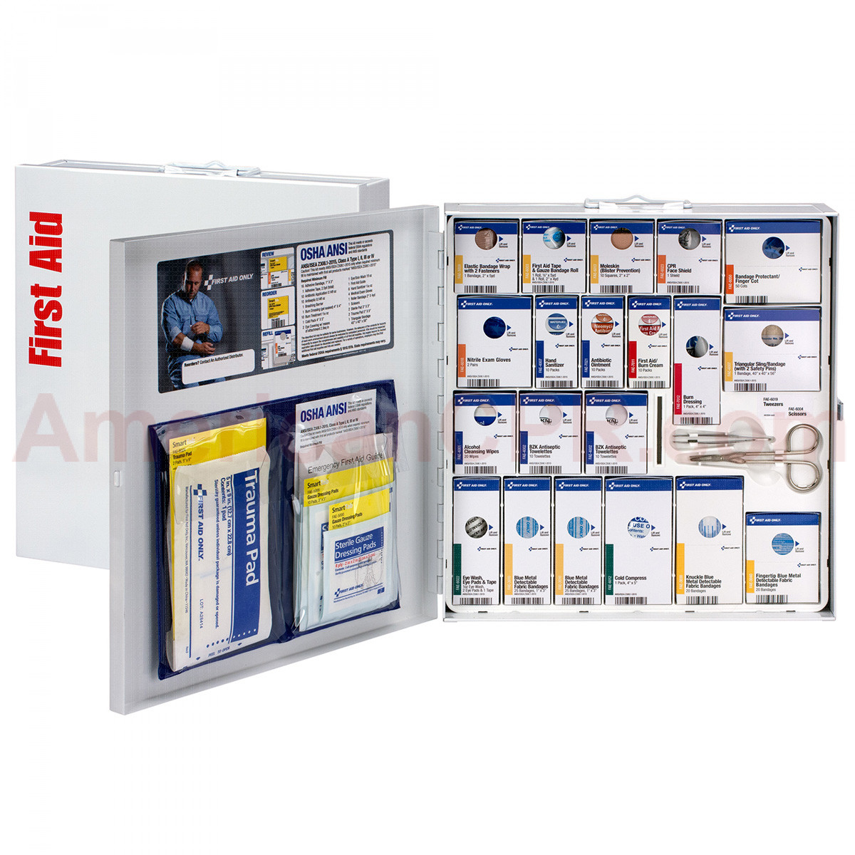 Large Metal SmartCompliance Food Service Cabinet, ANSI A+ with Meds -  First Aid Only