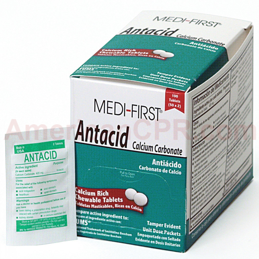 Antacid, 100/box, Medi-First