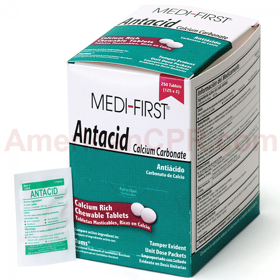 Antacid, 250/box, Medi-First