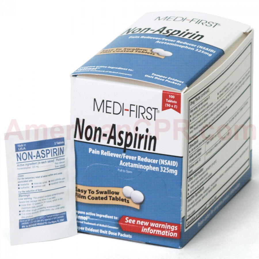 Non-Aspirin, 100/box, Medi-First