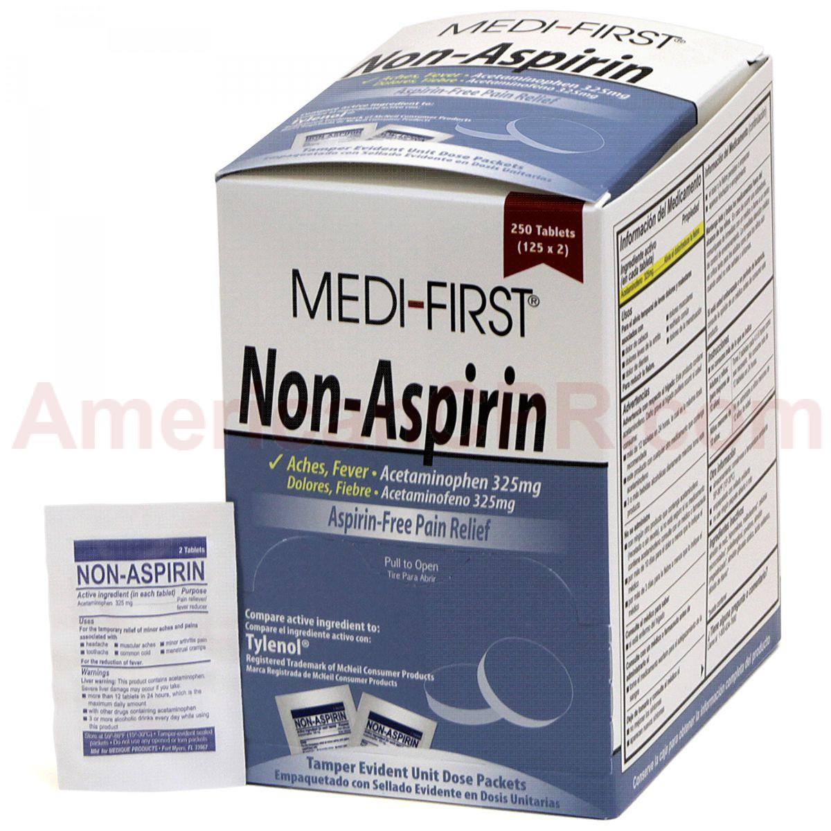 Non-Aspirin, 250/box, Medi-First