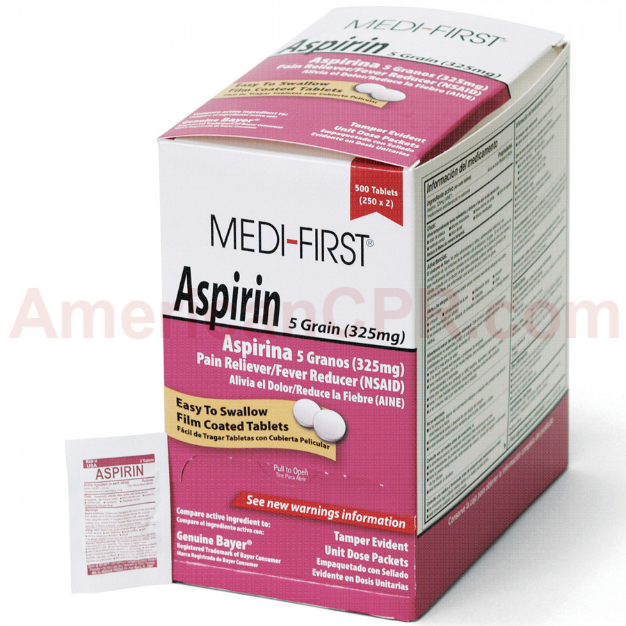 Aspirin, 500/box, Medi-First