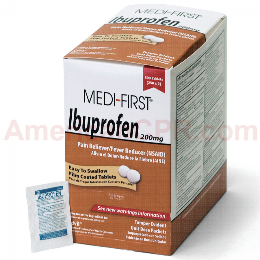 Ibuprofen, 500/box, Medi-First