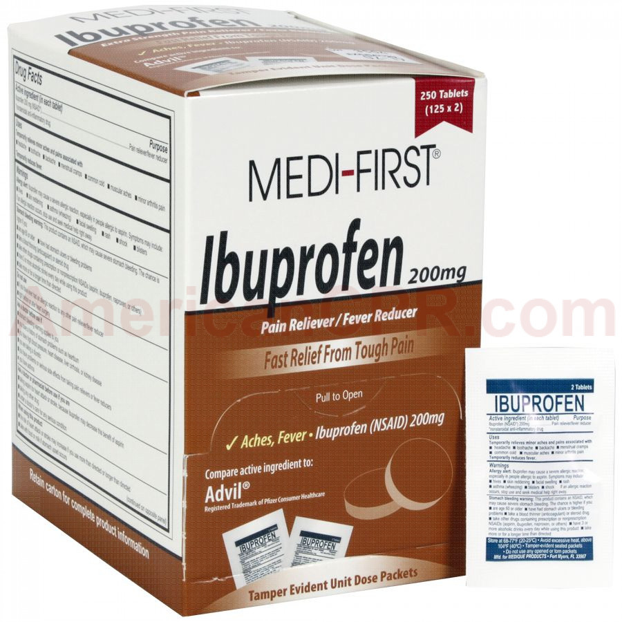 Ibuprofen, 250/box, Medi-First