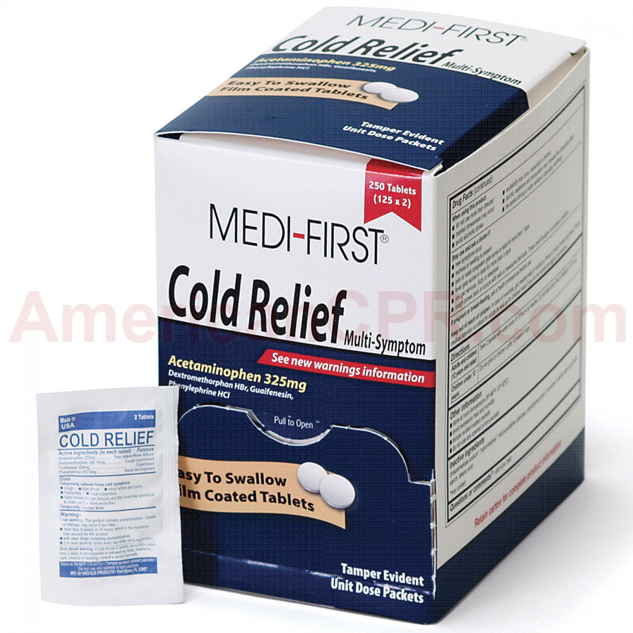 Cold Relief, 250/box, Medi-First