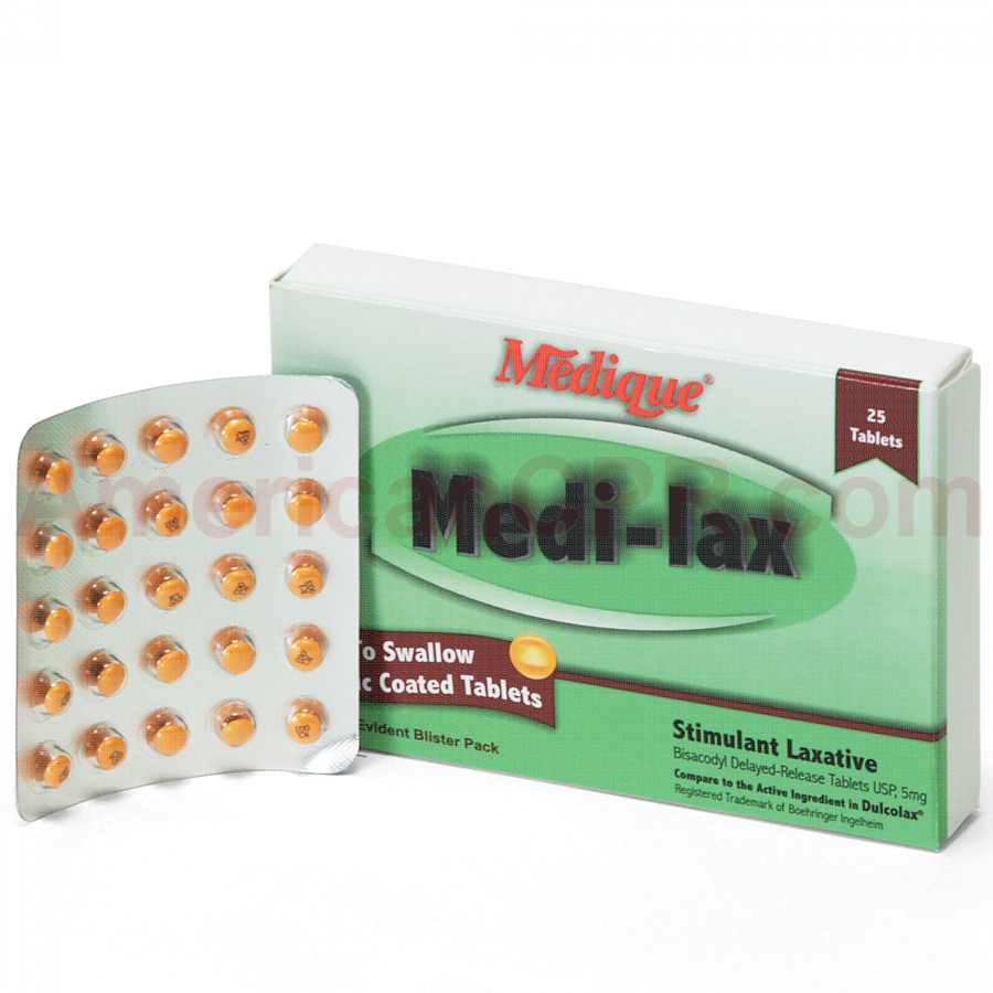 Medi-Lax, 25/box, Medique
