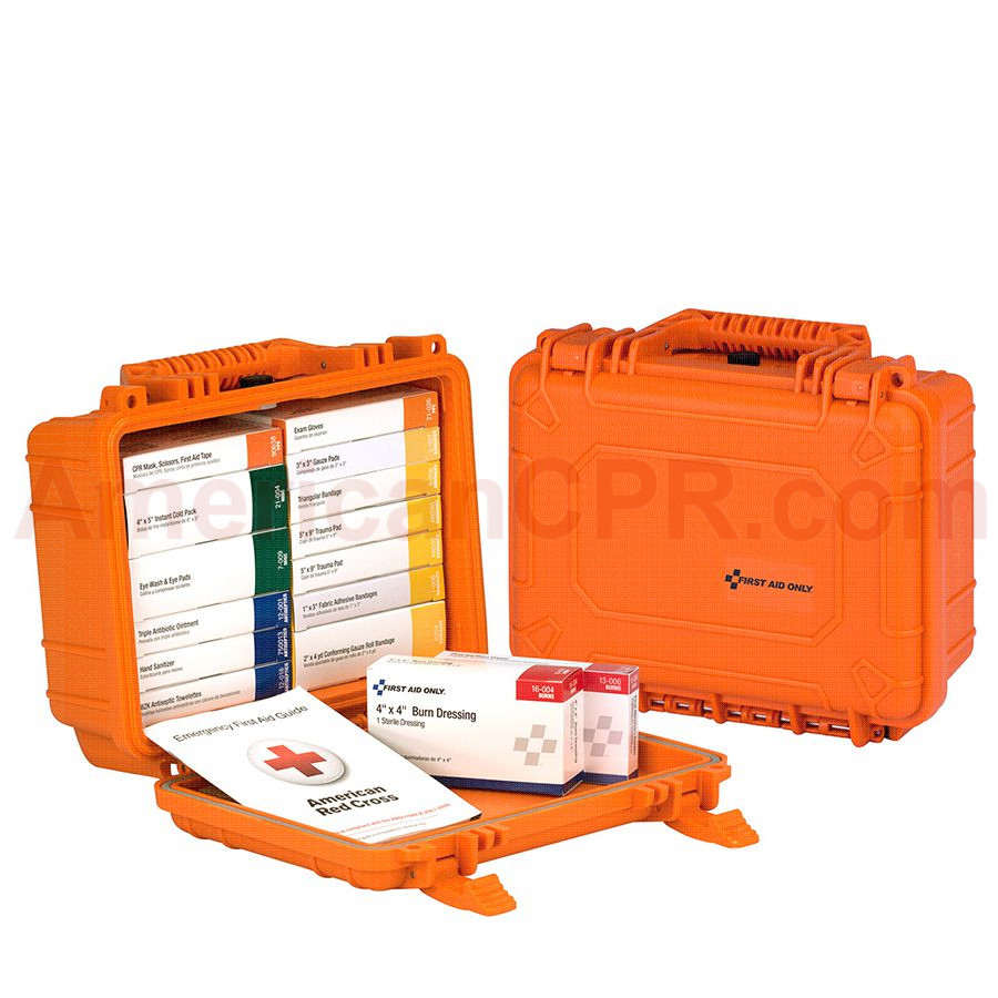 16 Unit ANSI A First Aid Kit, Plastic, Waterproof -  First Aid Only
