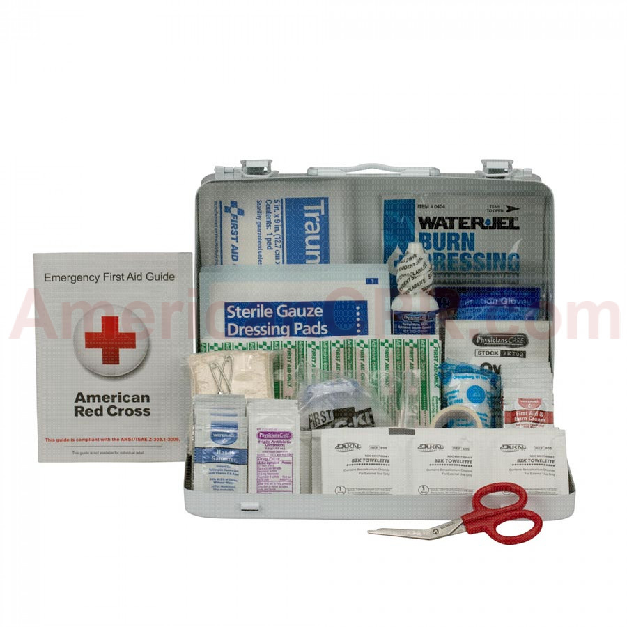 25 Person First Aid Kit, ANSI A,  Metal Case -  First Aid Only