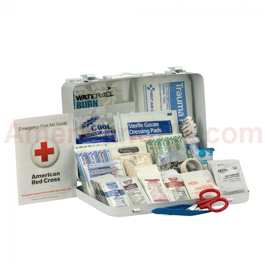 25 Person First Aid Kit, ANSI A+, Metal Case -  First Aid Only