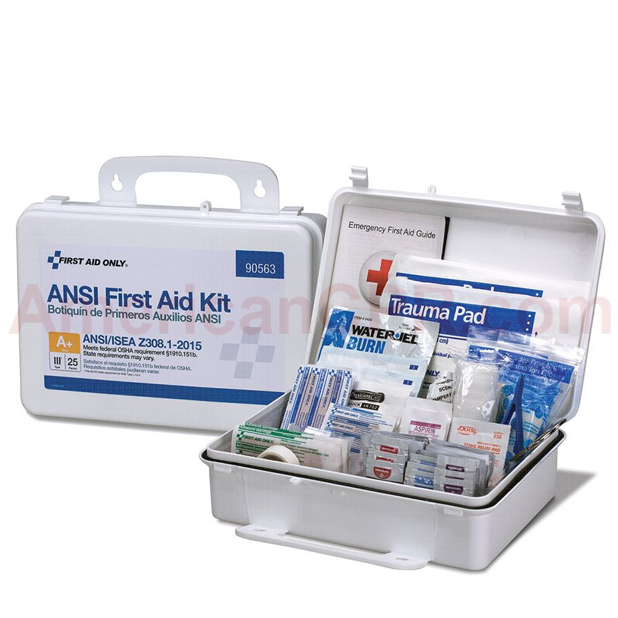 25 Person First Aid Kit, ANSI A+, Plastic Case -  First Aid Only