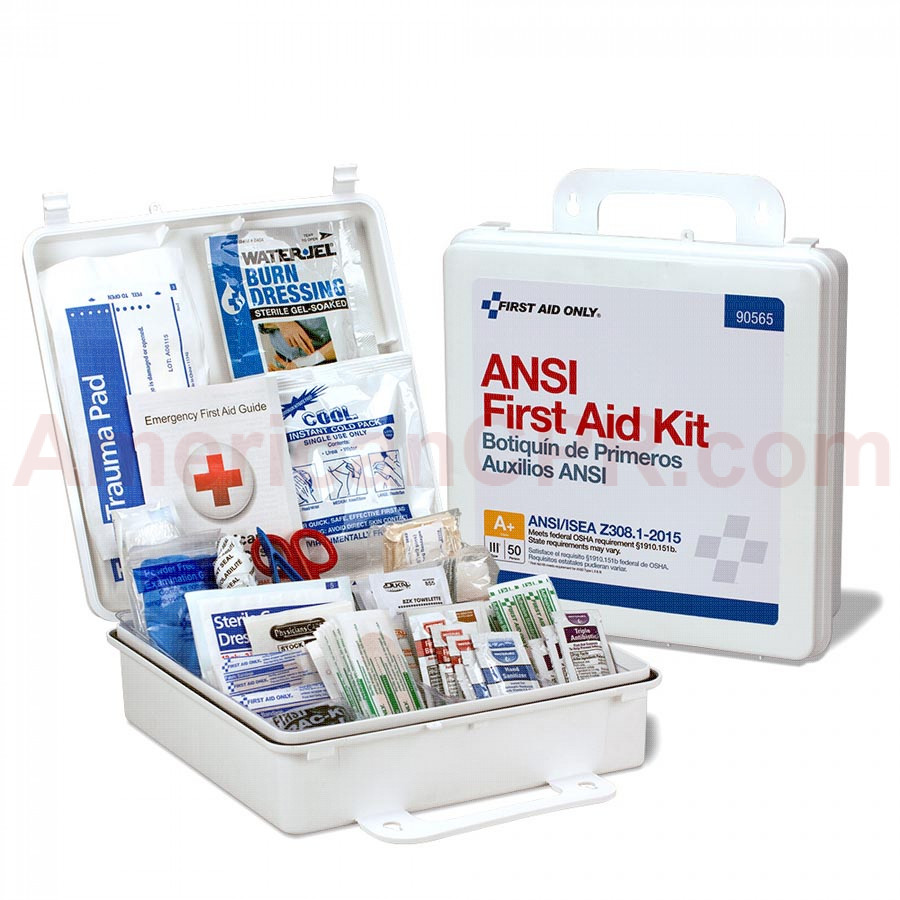 50 Person First Aid Kit, ANSI A+, Plastic Case  -  First Aid Only