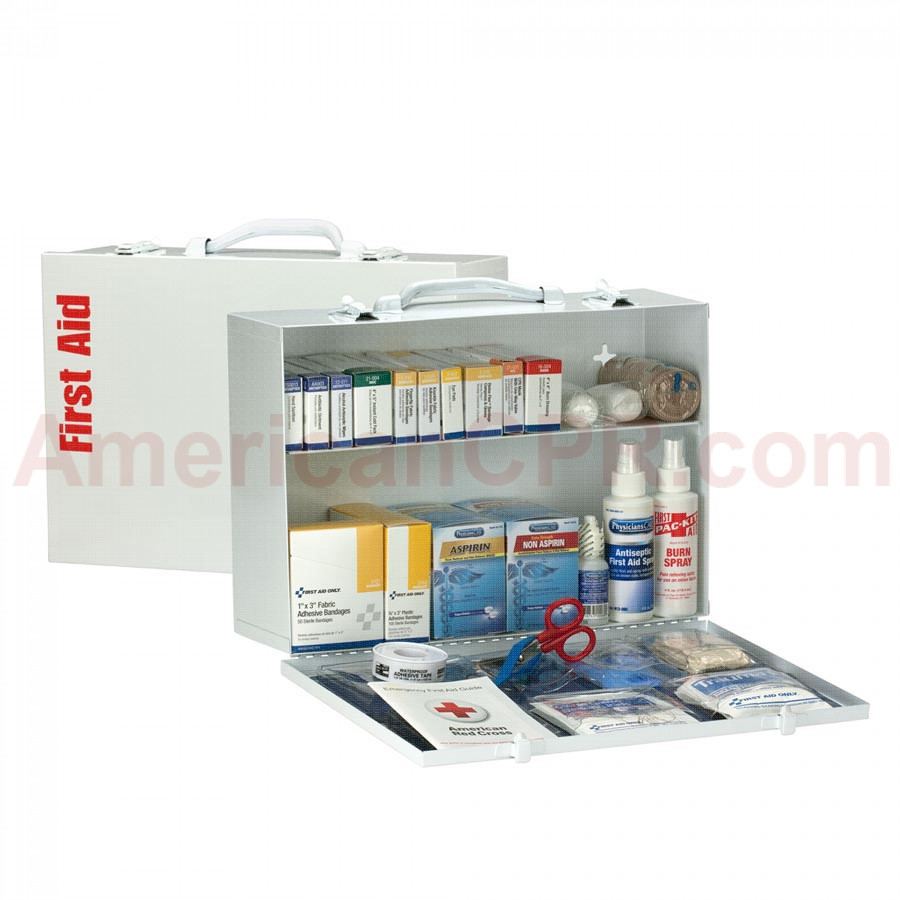 2 Shelf First Aid ANSI A+ Metal Cabinet, with Meds -  First Aid Only