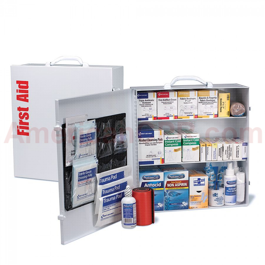 3 Shelf First Aid ANSI B+ Metal Cabinet, with Meds -  First Aid Only