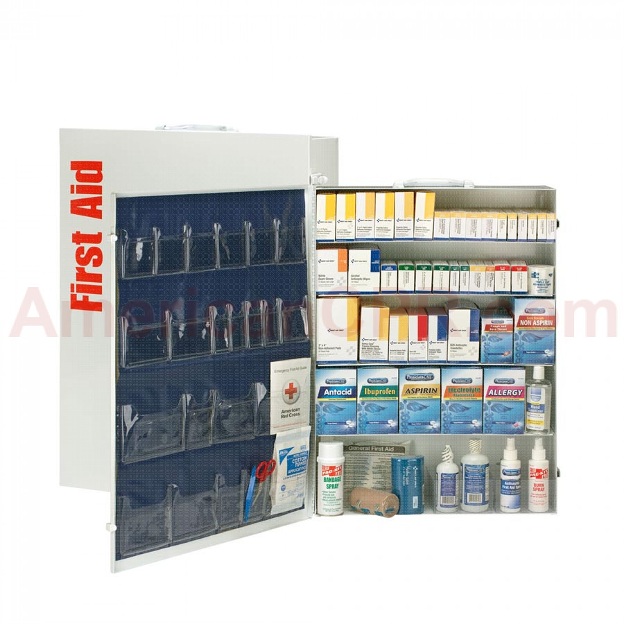 5 Shelf First Aid ANSI B+ Metal Cabinet, with Meds -  First Aid Only