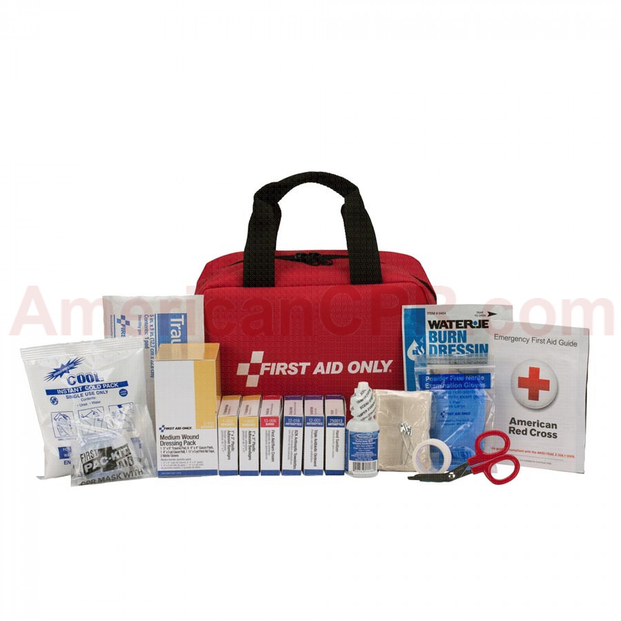 25 Person First Aid Kit, ANSI A, Fabric Case -  First Aid Only