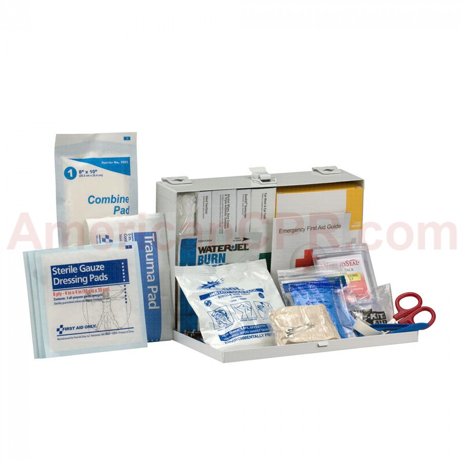 25 Person Contractor ANSI A+ First Aid Kit, Metal Case -  First Aid Only