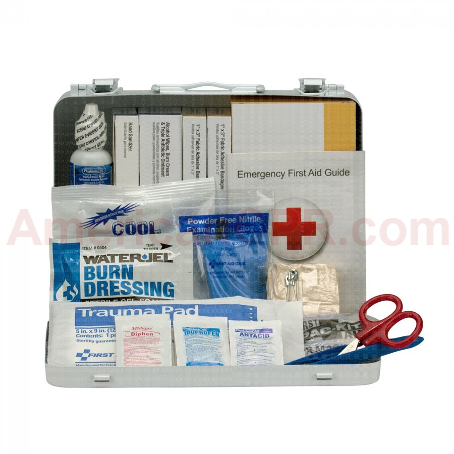 25 Person Vehicle ANSI A+ First Aid Kit, Metal Case -  First Aid Only