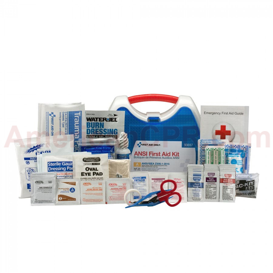 25 Person ReadyCare ANSI A First Aid Kit, Plastic Case -  First Aid Only