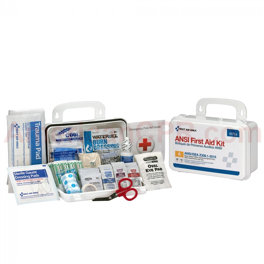 10 Person Bulk ANSI A, Plastic -  First Aid Only
