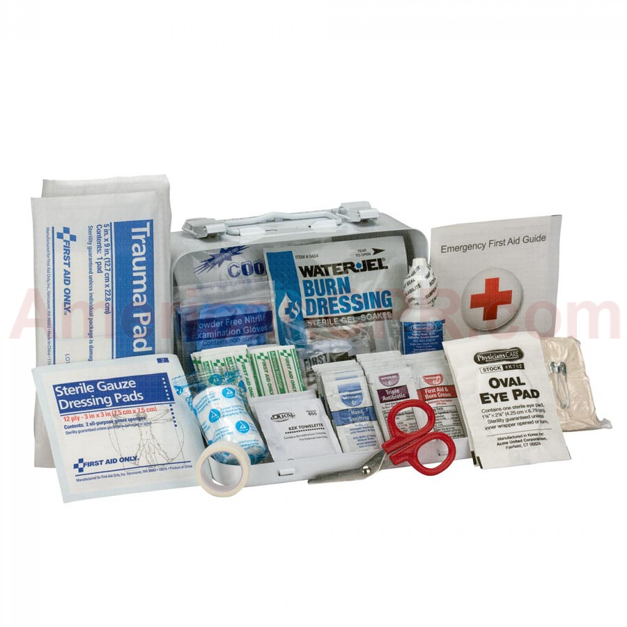 10 Person Bulk ANSI A, Metal -  First Aid Only
