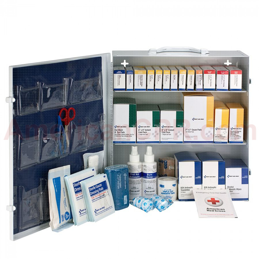 3 Shelf First Aid ANSI B+ Metal Cabinet, without Meds -  First Aid Only