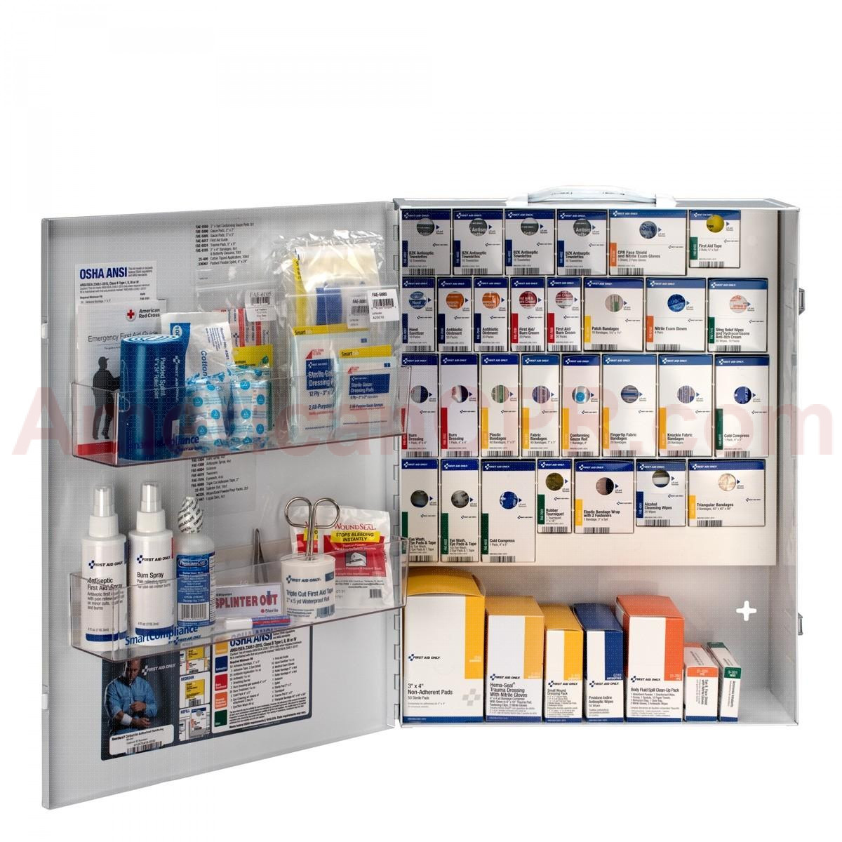 XL Metal Smart Compliance General Business First Aid Cabinet without Meds, First Aid Only