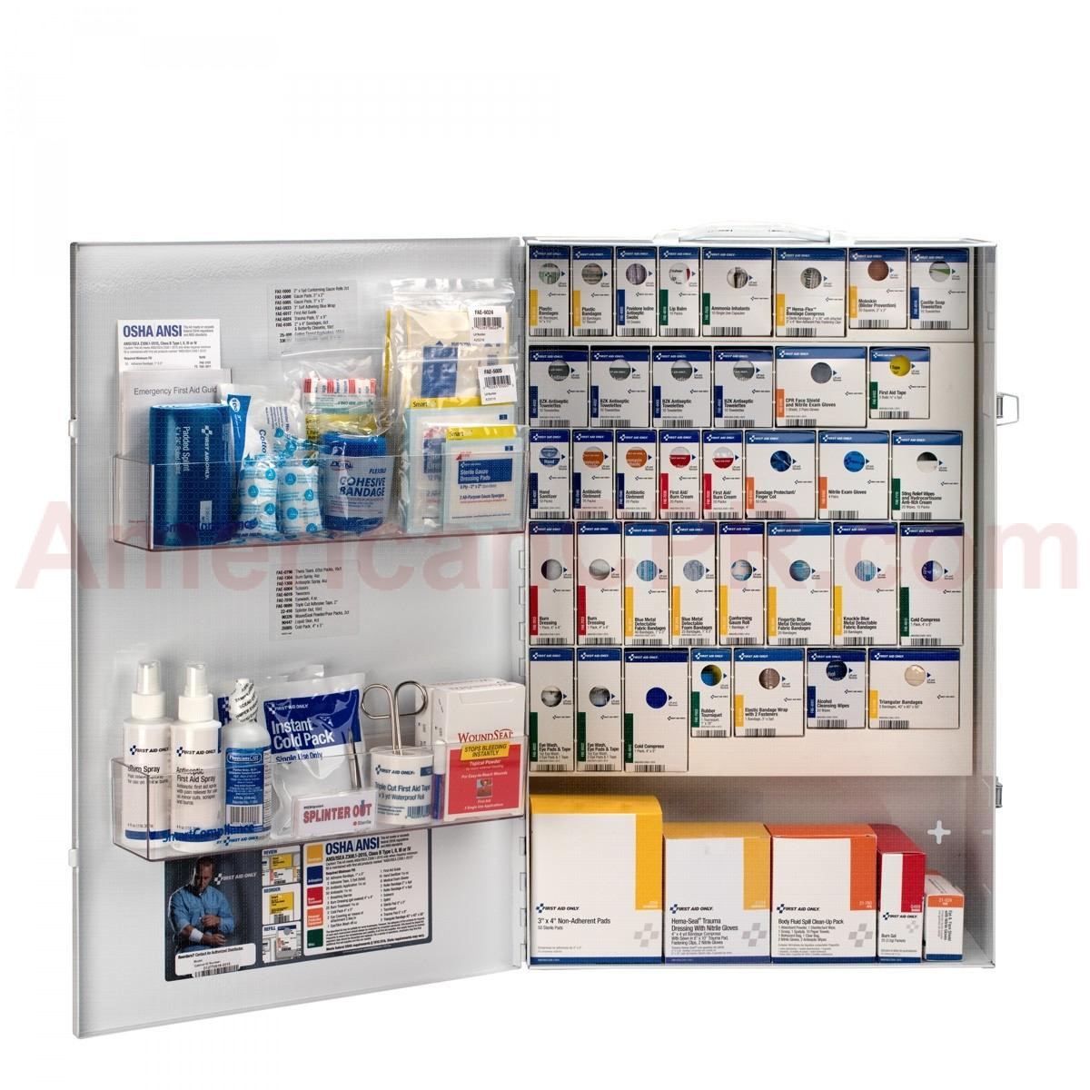 XXL Metal Smart Compliance Food Service First Aid without Meds, First Aid Only